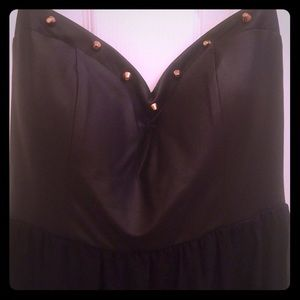 Hi-Low Black strapless dress